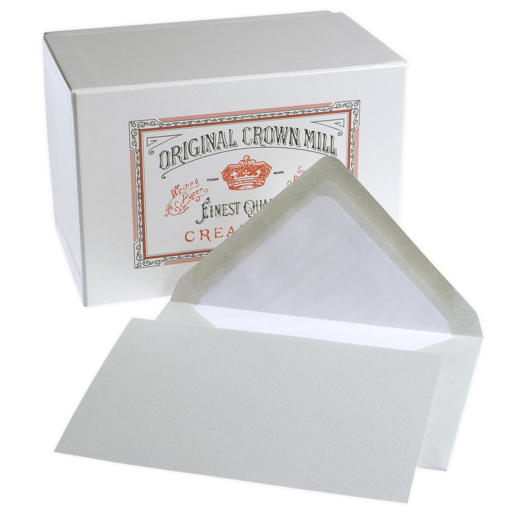 Classic Laid Note Card Presentation Box Grey By Crown Mill - 1