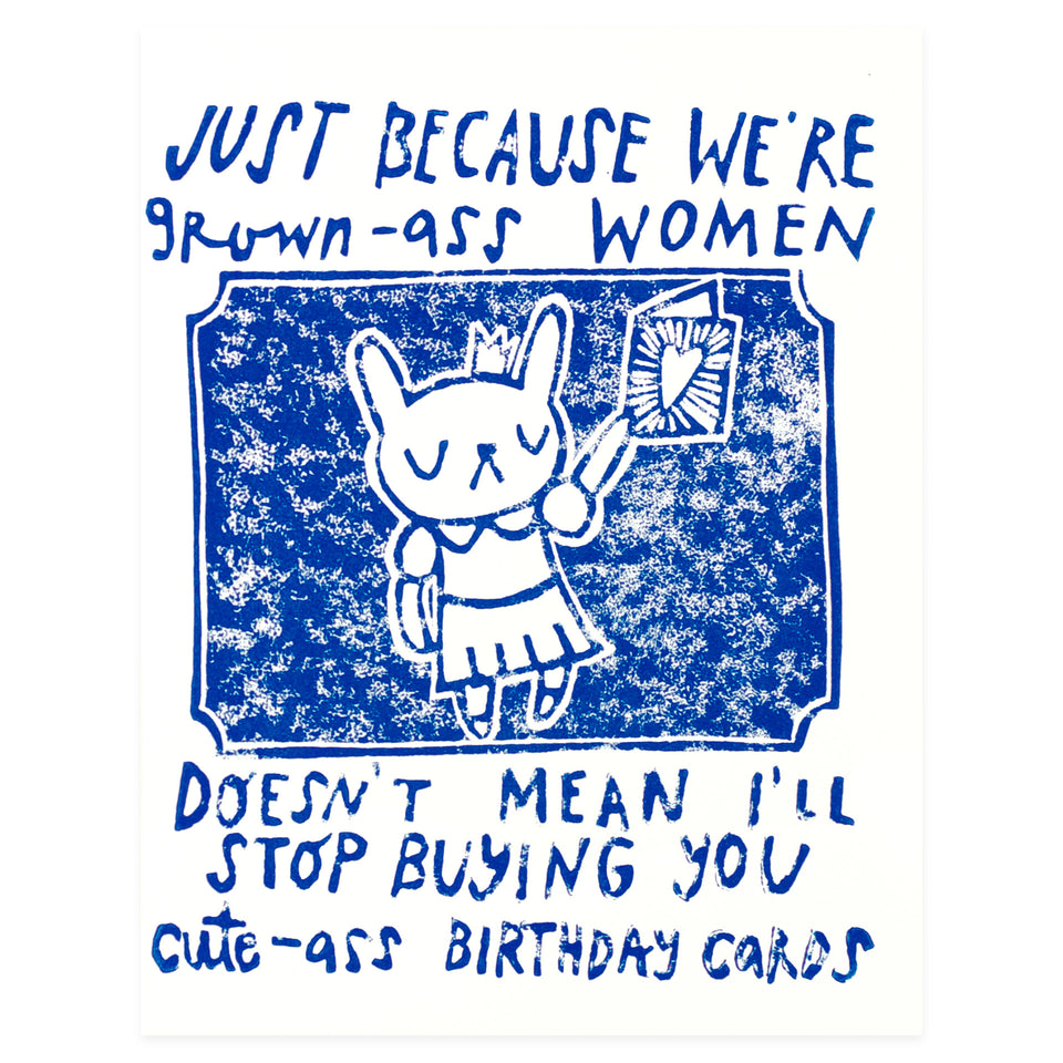 Ghost Academy Grown-Ass Women Cute-Ass Birthday Card