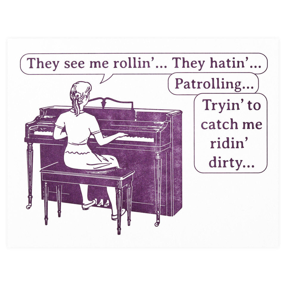 Guttersnipe Press Ridin' Dirty Greeting Card