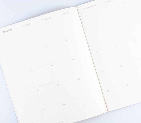 Hadron Epoch LA 2018 Geo Seafoam Monthly Planner - GREER Chicago Online Stationery Shop