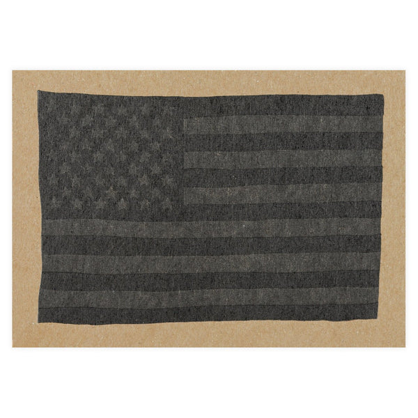 Black USA Flag Postcard By Hammerpress