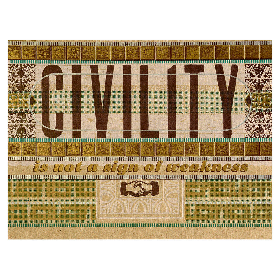 Hammerpress x GREER Civility is Not a Sign of Weakness Greeting Card