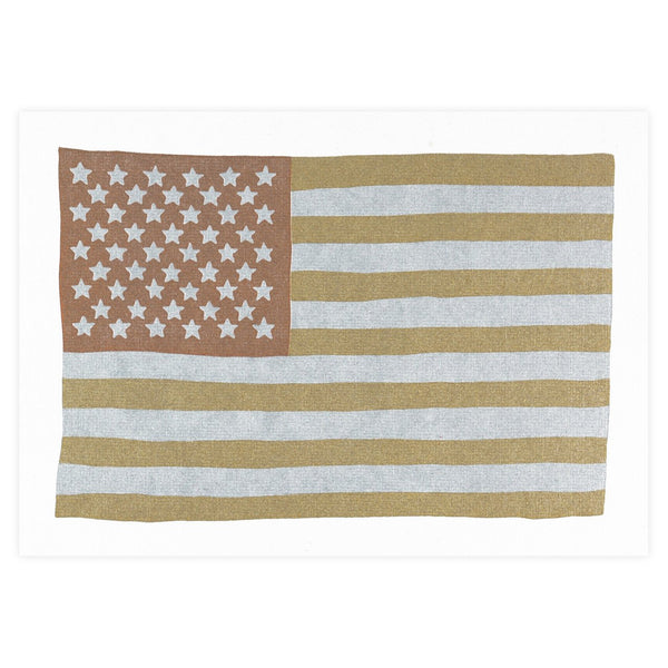 Metallic USA Flag Postcard By Hammerpress