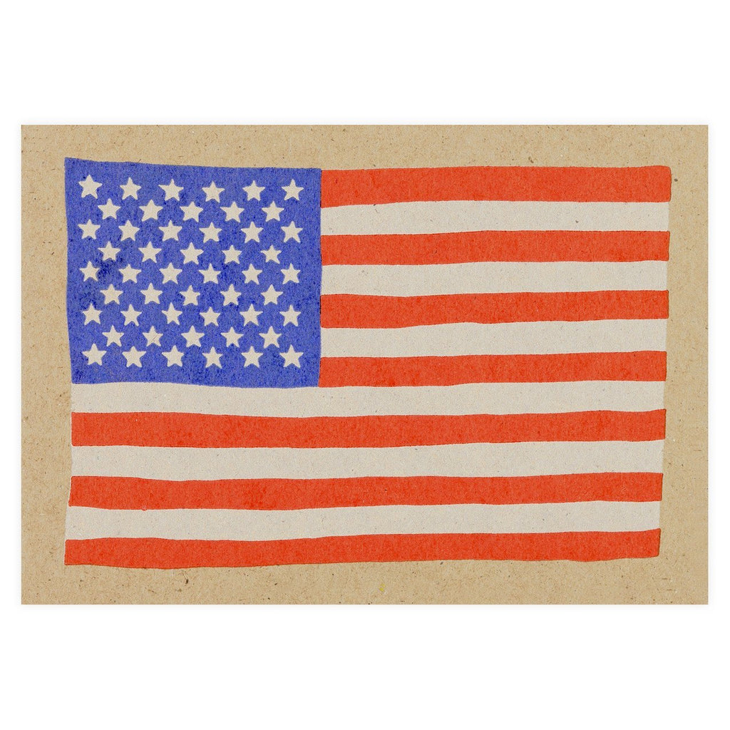Red White Blue USA Flag Postcard By Hammerpress - 1