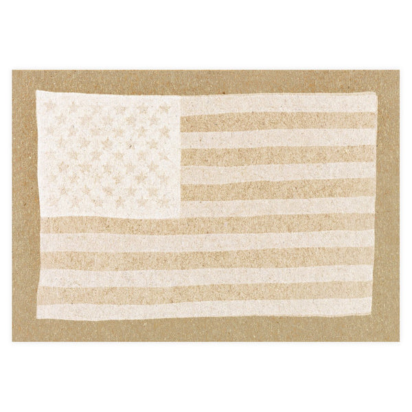 White USA Flag Postcard By Hammerpress