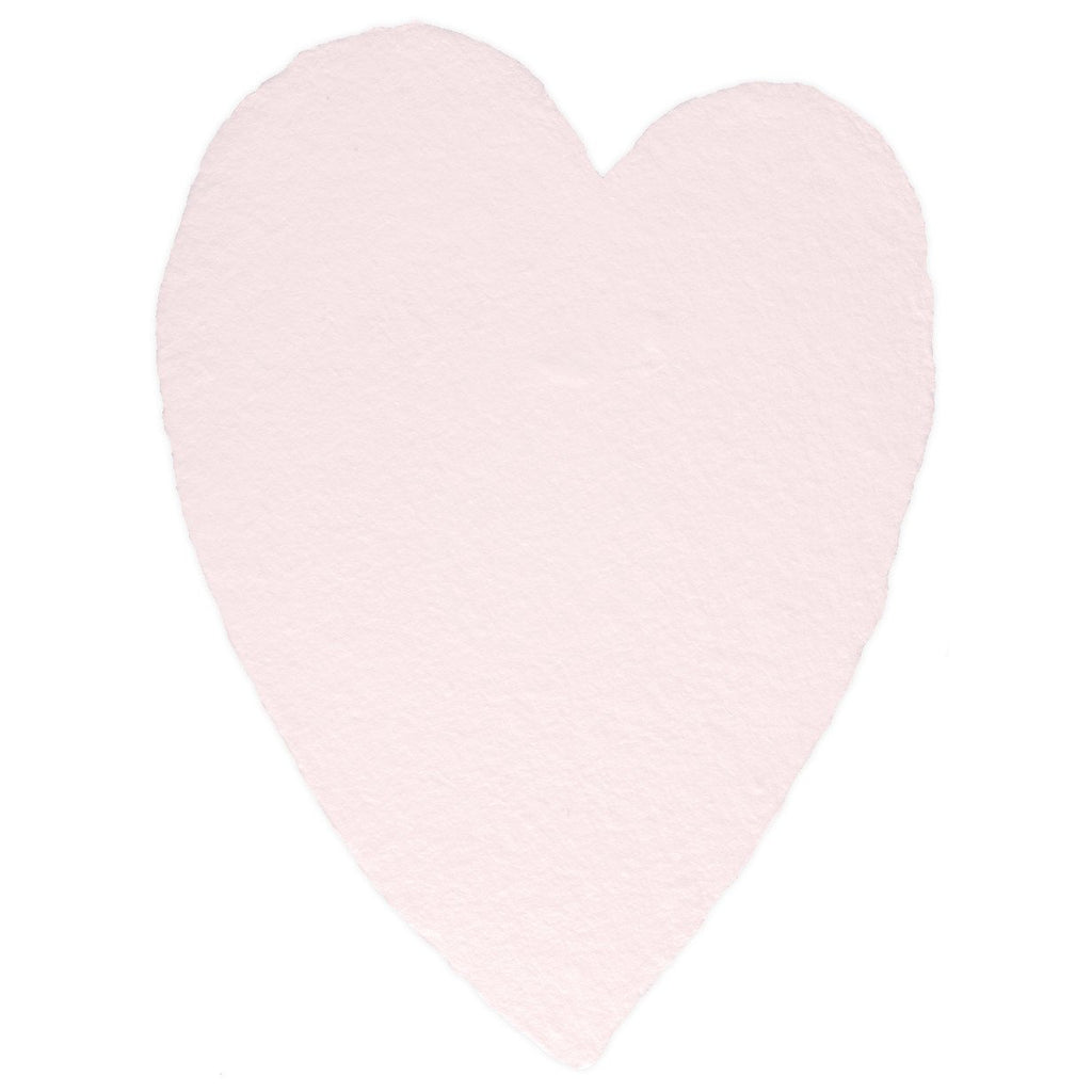Handmade Paper Hearts Pink Large By Oblation Papers & Press - 2