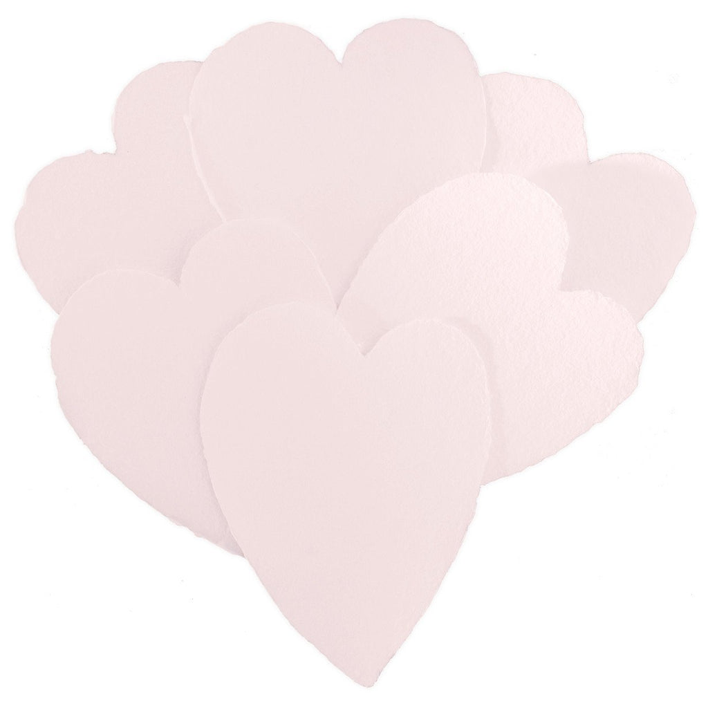 Handmade Paper Hearts Pink Large By Oblation Papers & Press - 1