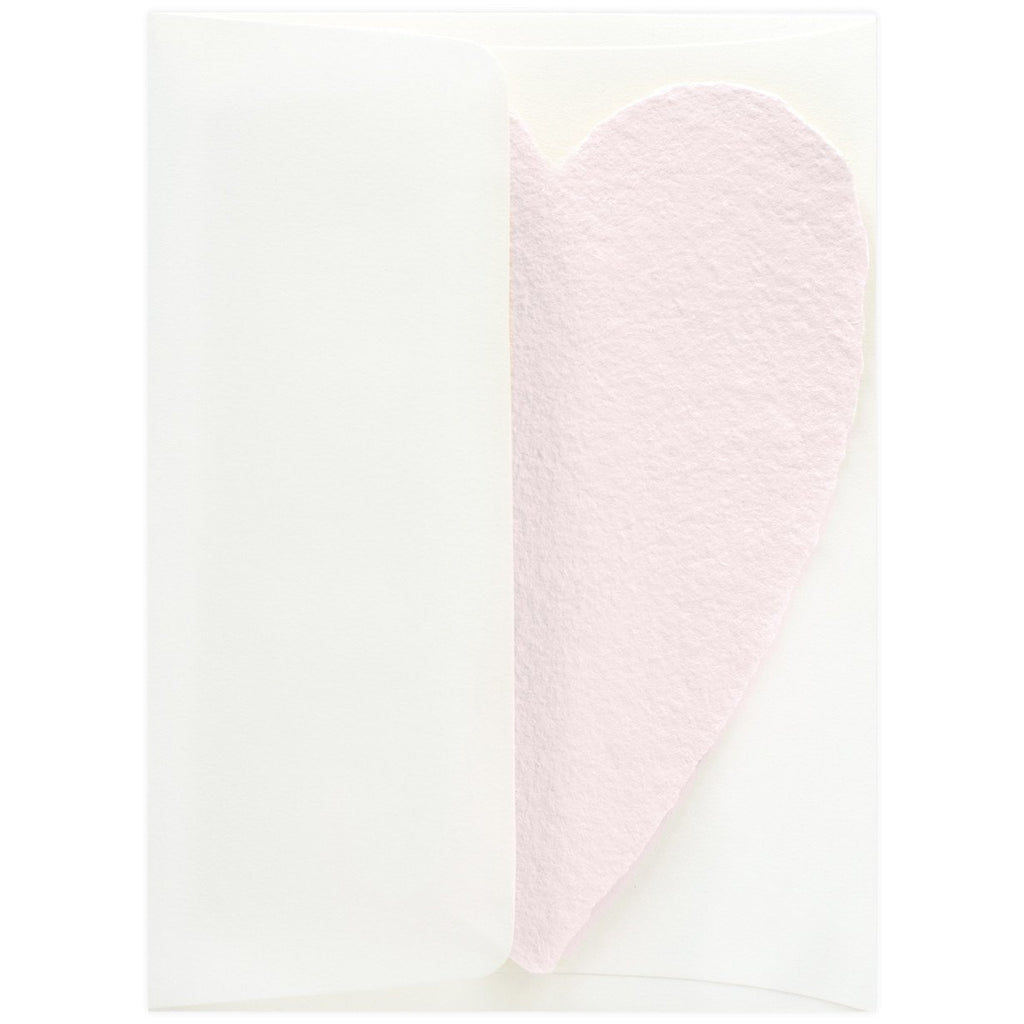 Handmade Paper Hearts Pink Large By Oblation Papers & Press - 3