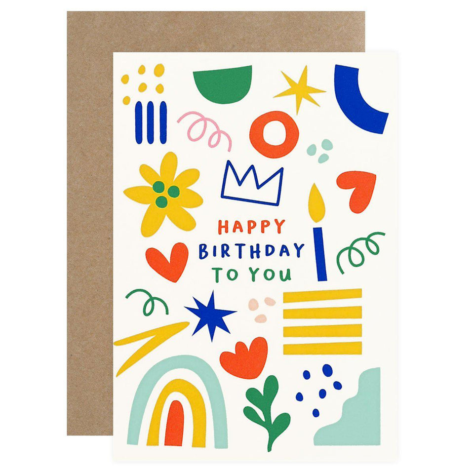 Graphic Factory Happy Birthday Card