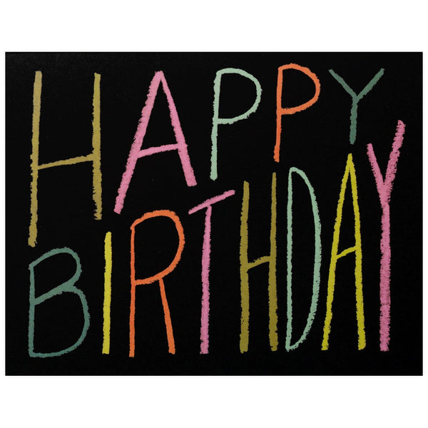 Rifle Paper Co. Crayon Birthday Card - GREER Chicago Online Stationery Shop