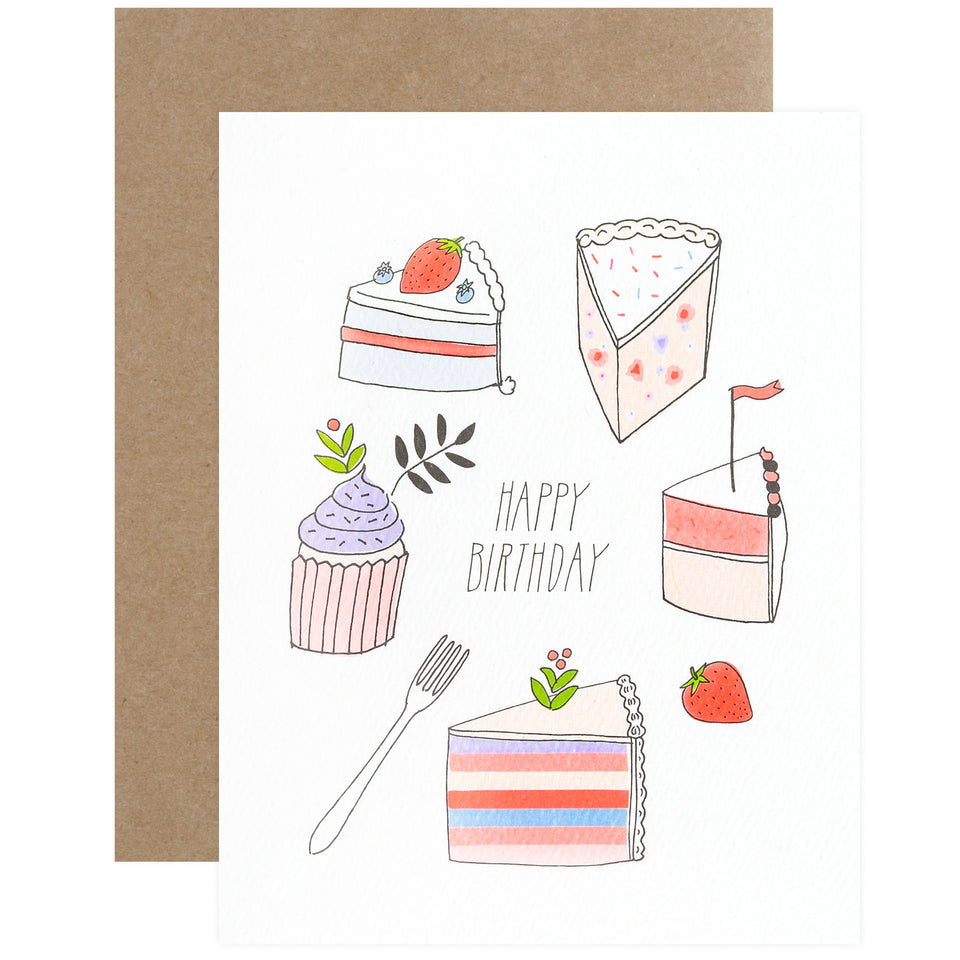 Hartland Brooklyn Happy Birthday Desserts Greeting Card