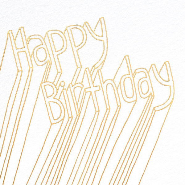 Happy Birthday Lines Greeting Card By Ashkahn - 1