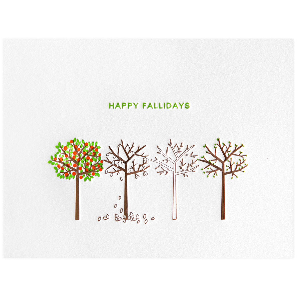 Dee & Lala Happy Fallidays greeting card - GREER Chicago Online Stationery Shop