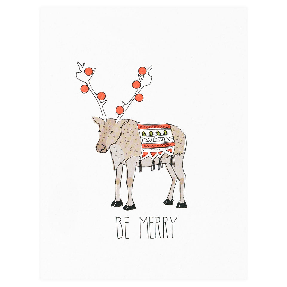 Hartland Brooklyn Be Merry Reindeer Holiday Cards Boxed