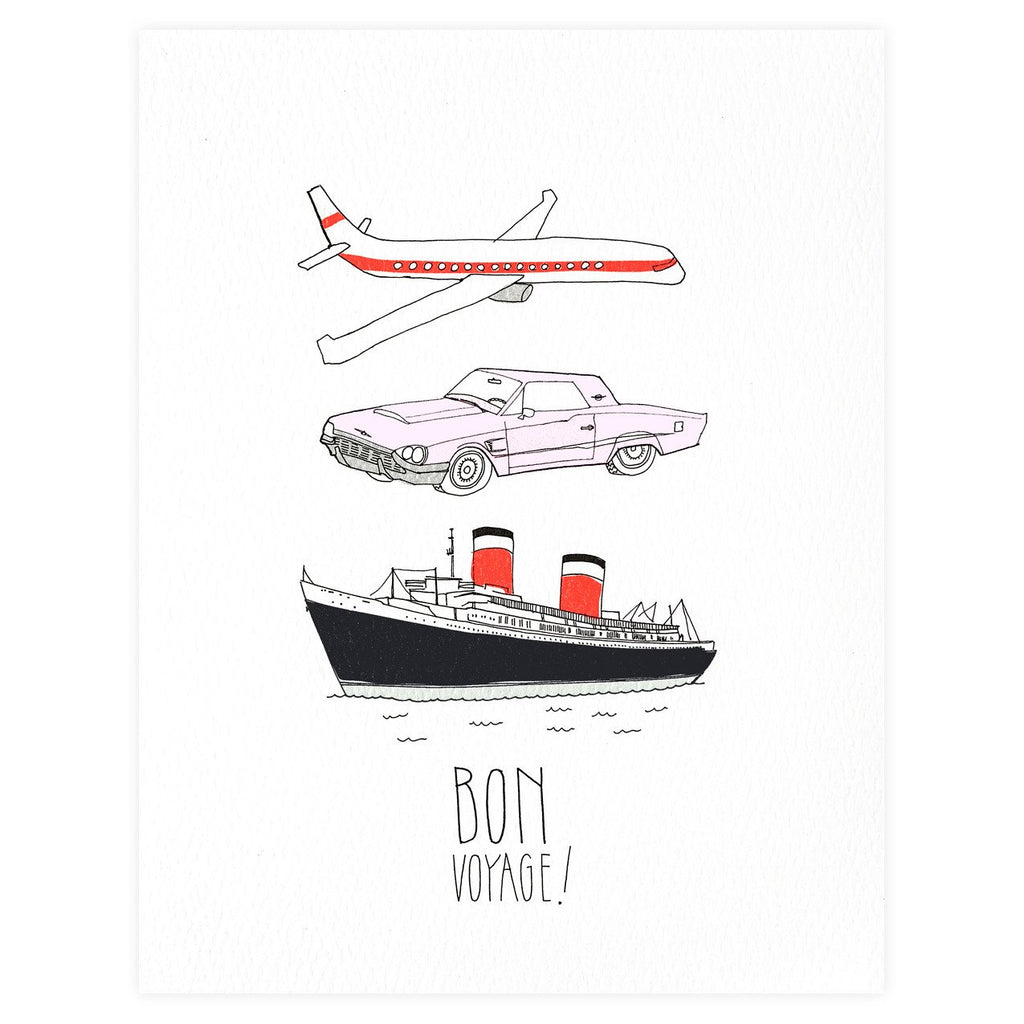 Bon Voyage! Greeting Card By Hartland Brooklyn