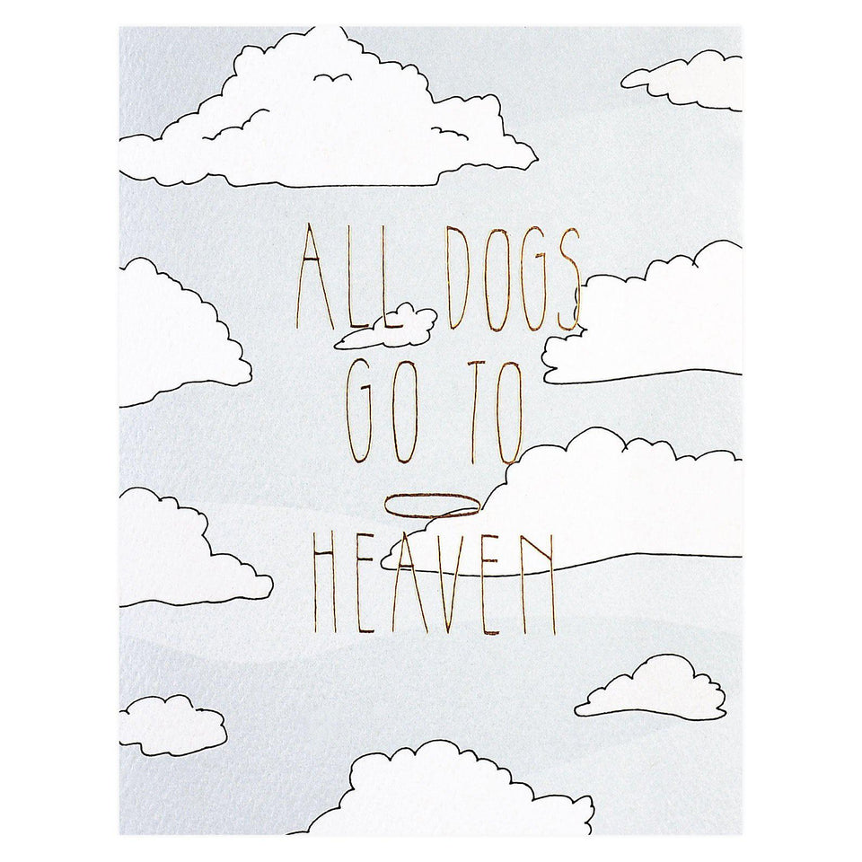 Hartland Brooklyn All Dogs Go To Heaven Pet Sympathy Card