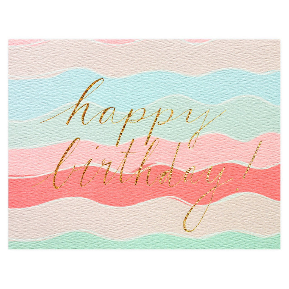 Hartland Brooklyn Happy Birthday Squiggles Birthday Card