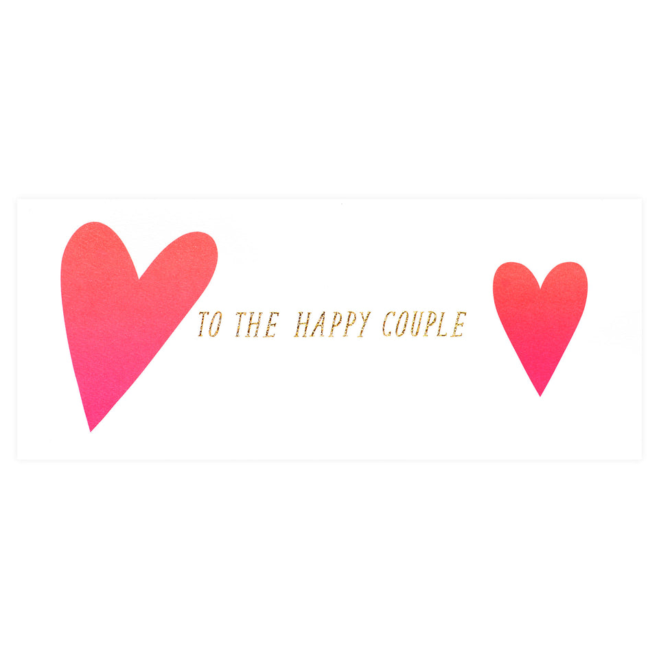 Hartland Brooklyn To The Happy Couple Hearts Greeting Card