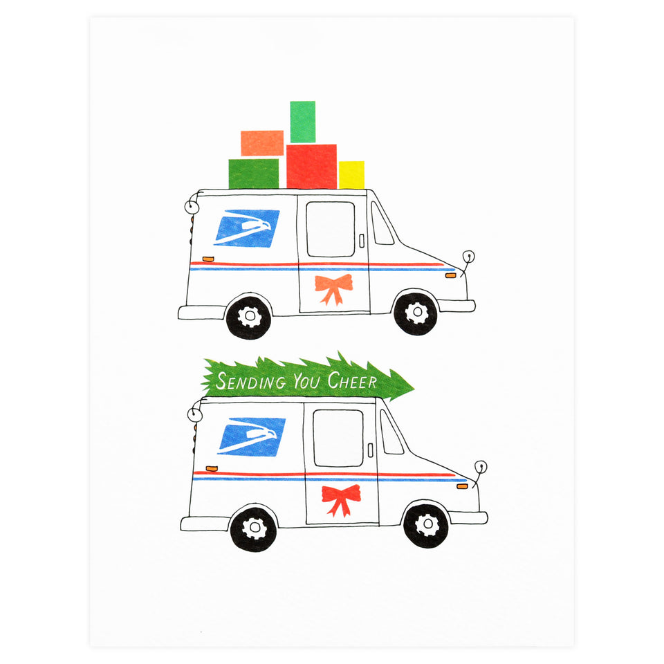 Hartland Brooklyn Cheer Mail Truck Holiday Cards Boxed Or Single