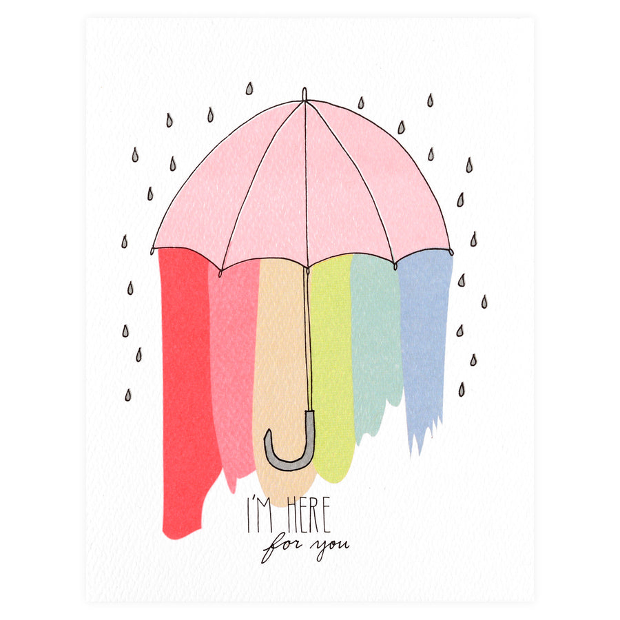 Hartland Brooklyn I'm Here For You Greeting Card - GREER Chicago Online Stationery Shop