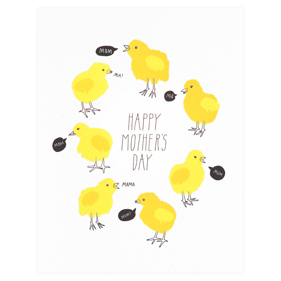 Mother's Day Chicks Greeting Card