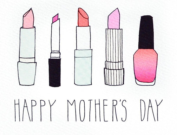 Mother's Day Lipstick Greeting Card