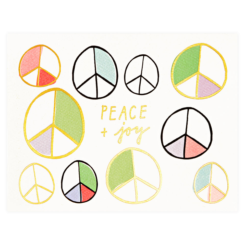 Hartland Brooklyn Peace and Joy Holiday Cards Boxed