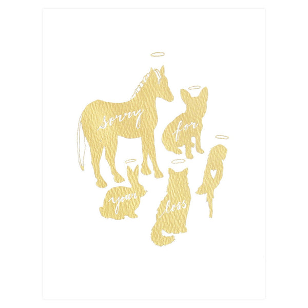 Hartland Brooklyn Gold Foil Pet Sympathy Card - GREER Chicago Online Stationery Shop