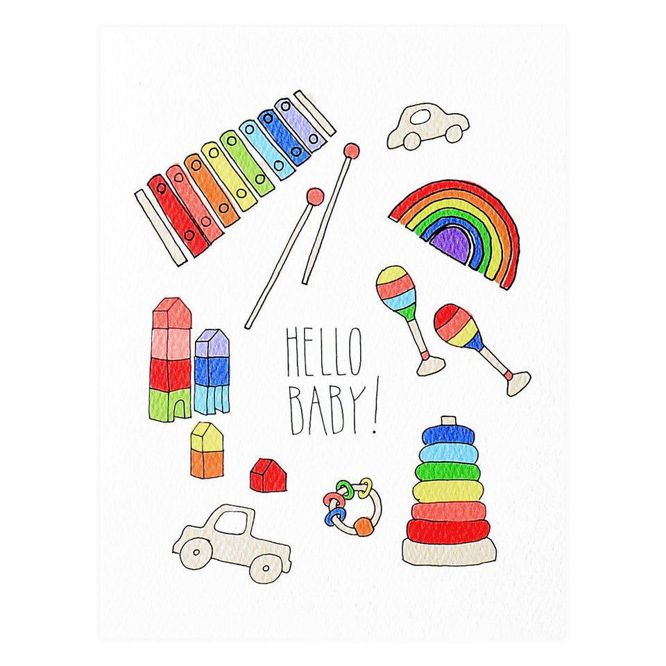 Hartland Brooklyn Wooden Toys New Baby Greeting Card