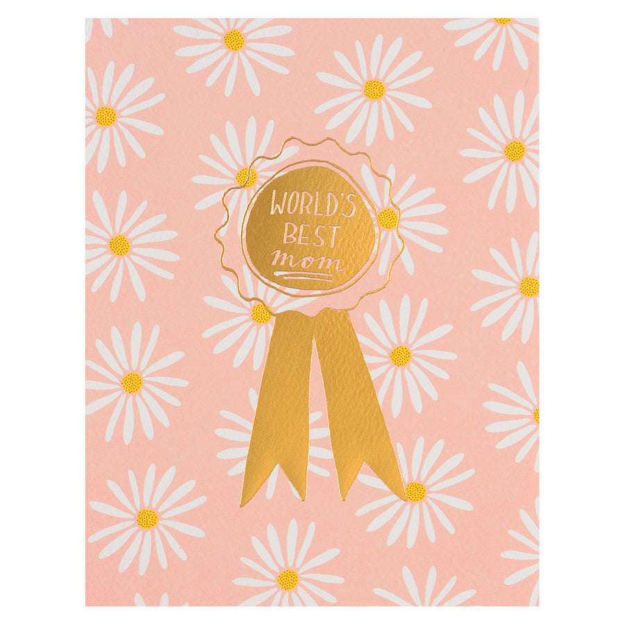 Hartland Brooklyn World's Best Mom Daisies Mother's Day Card - GREER Chicago Online Stationery Shop