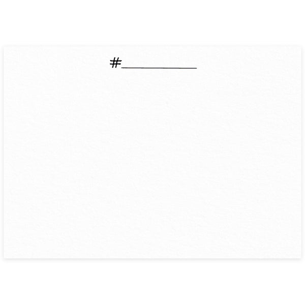 Terrapin Stationers Hashtag Flat Note Card Set - GREER Chicago Online Stationery Shop
