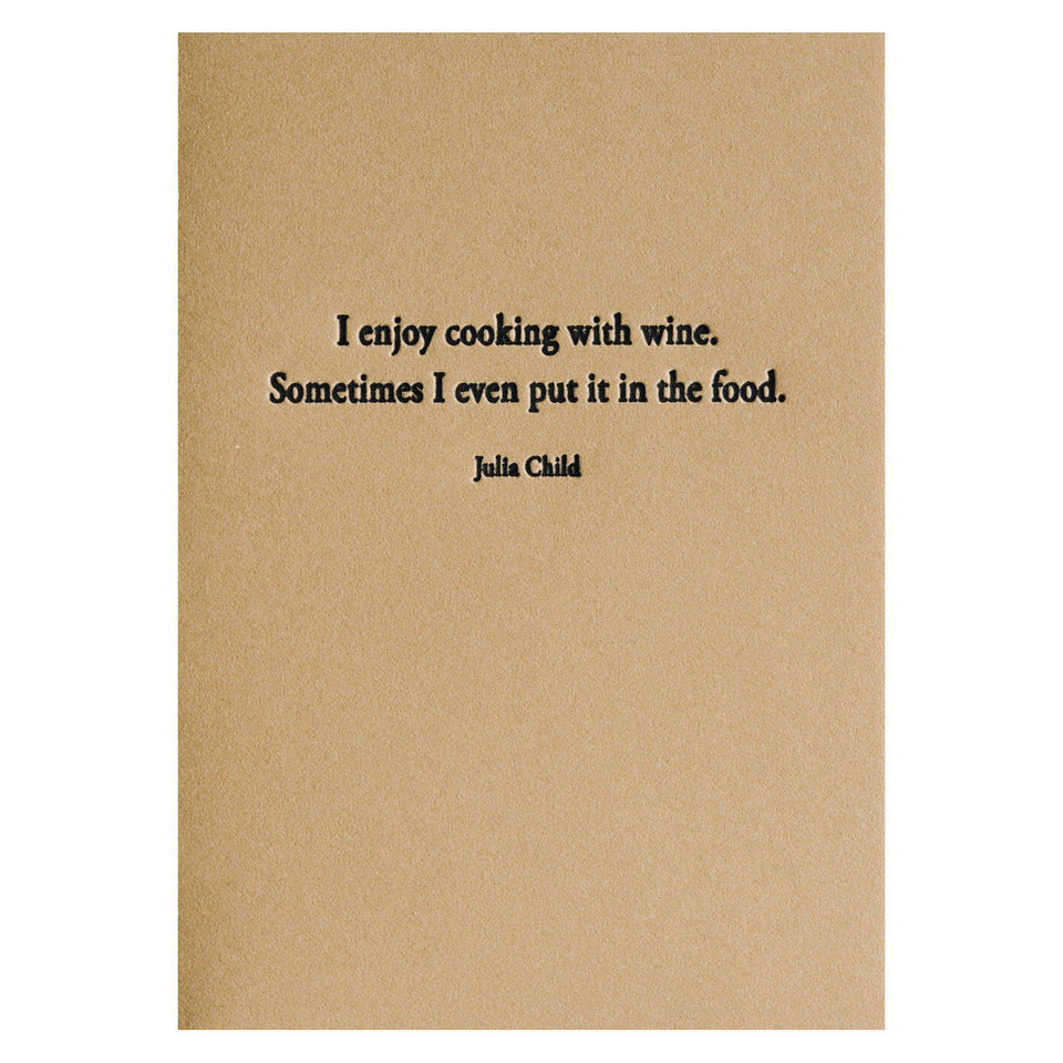 Hat Wig Glove Julia Child Greeting Card