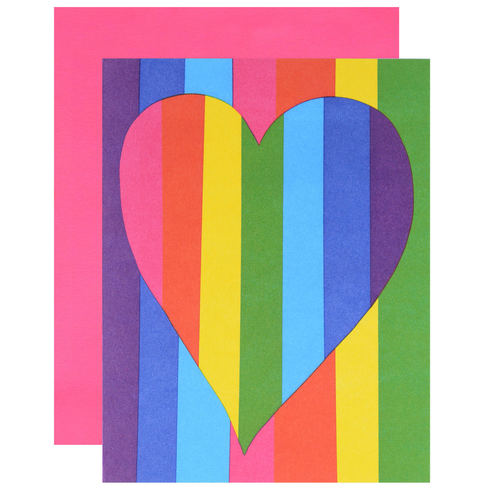 Ashkahn Rainbow Heart Greeting Card