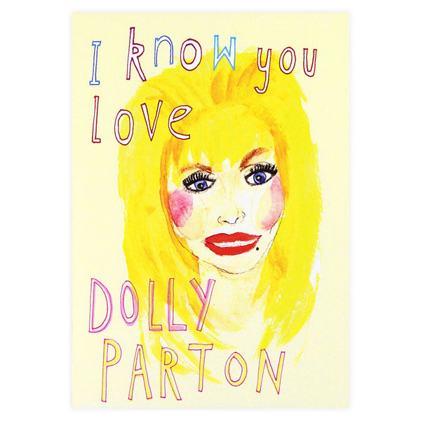 Dolly Parton Guilty Pleasures Greeting Card By Heather More