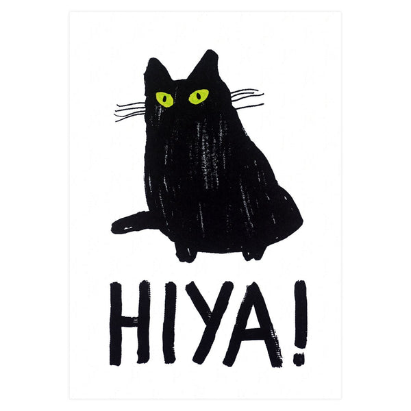 Hiya Greeting Card By Heather More