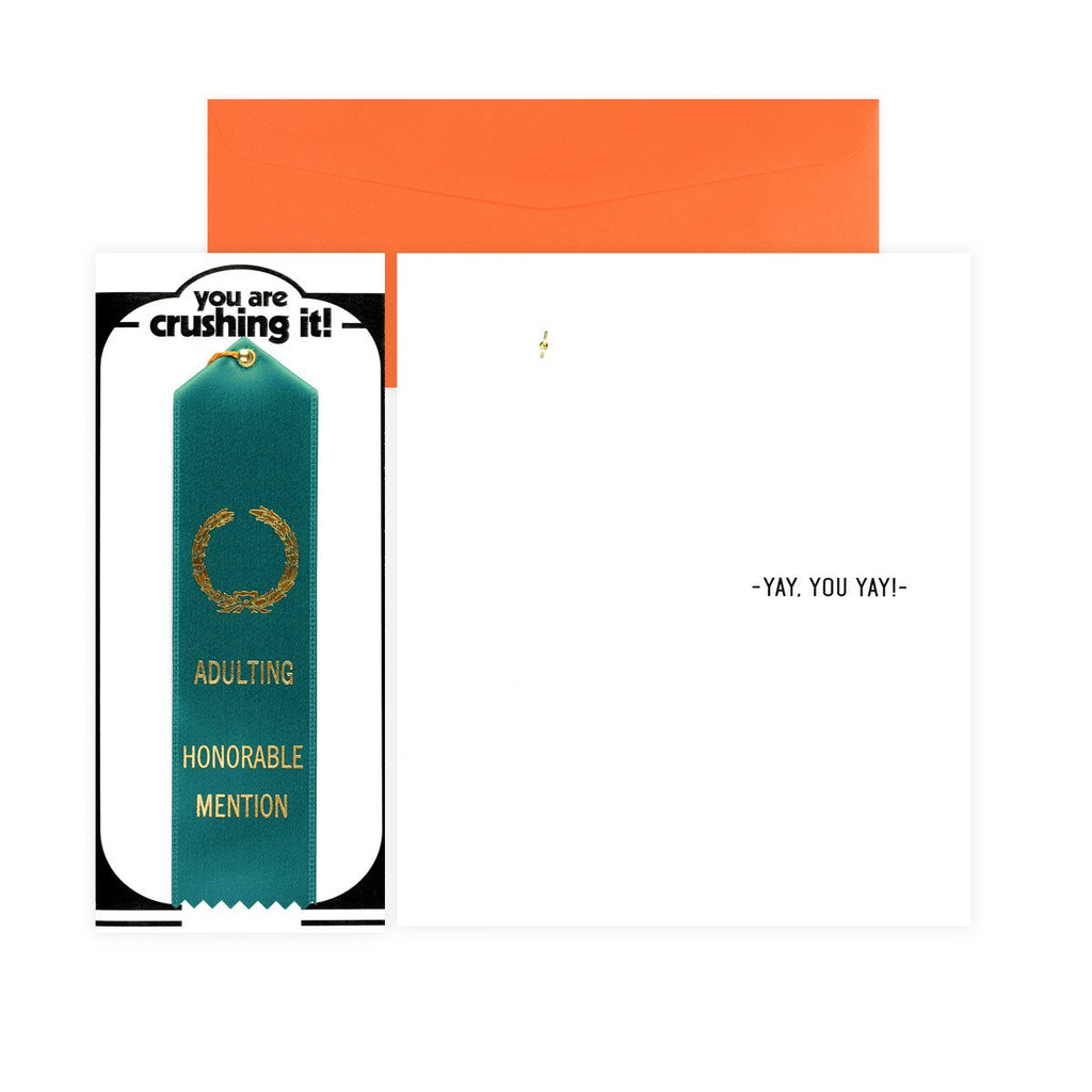 Adulting Honorable Mention Award Ribbon & Greeting Card By The Heirloom Tomato's - 3