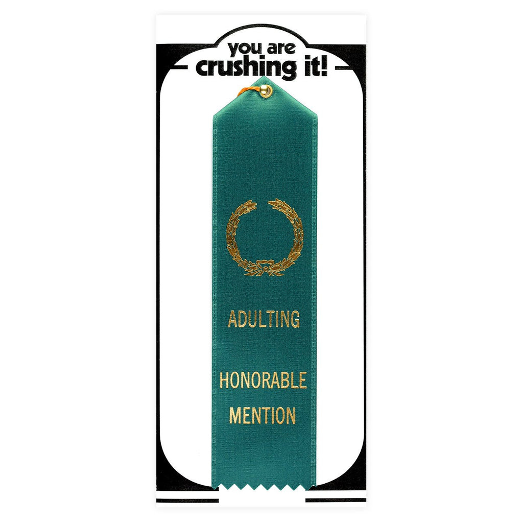 Adulting Honorable Mention Award Ribbon & Greeting Card By The Heirloom Tomato's - 1