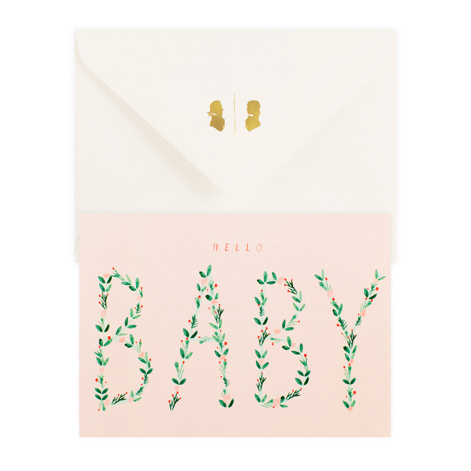 Mr. Boddington's Studio Hello Baby Greeting Card
