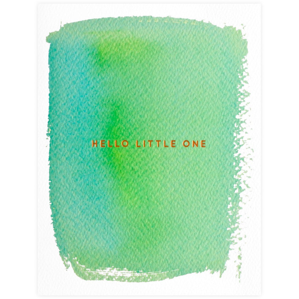 Hello Little One New Baby Card By E. Frances Paper