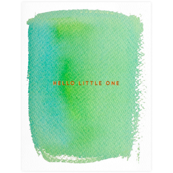 E. Frances Paper Hello Little One New Baby Card - GREER Chicago Online Stationery Shop