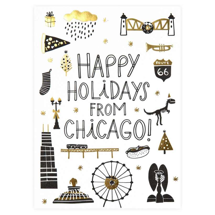 Hello Lucky Chicago Holiday Doodles Boxed Cards