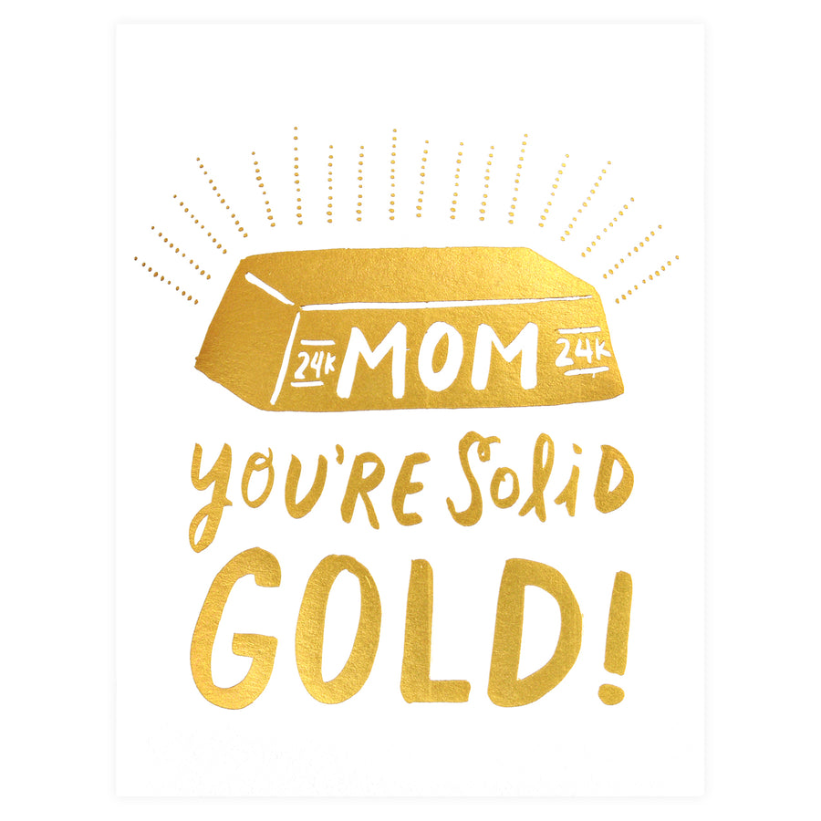 Hello Lucky Solid Gold Mom Mother's Day Card