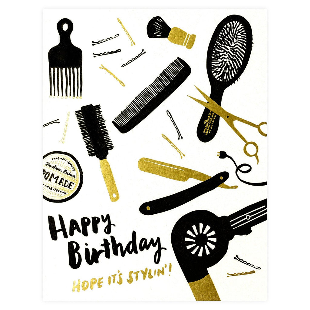 Hello Lucky Stylin' Birthday Card - GREER Chicago Online Stationery Shop