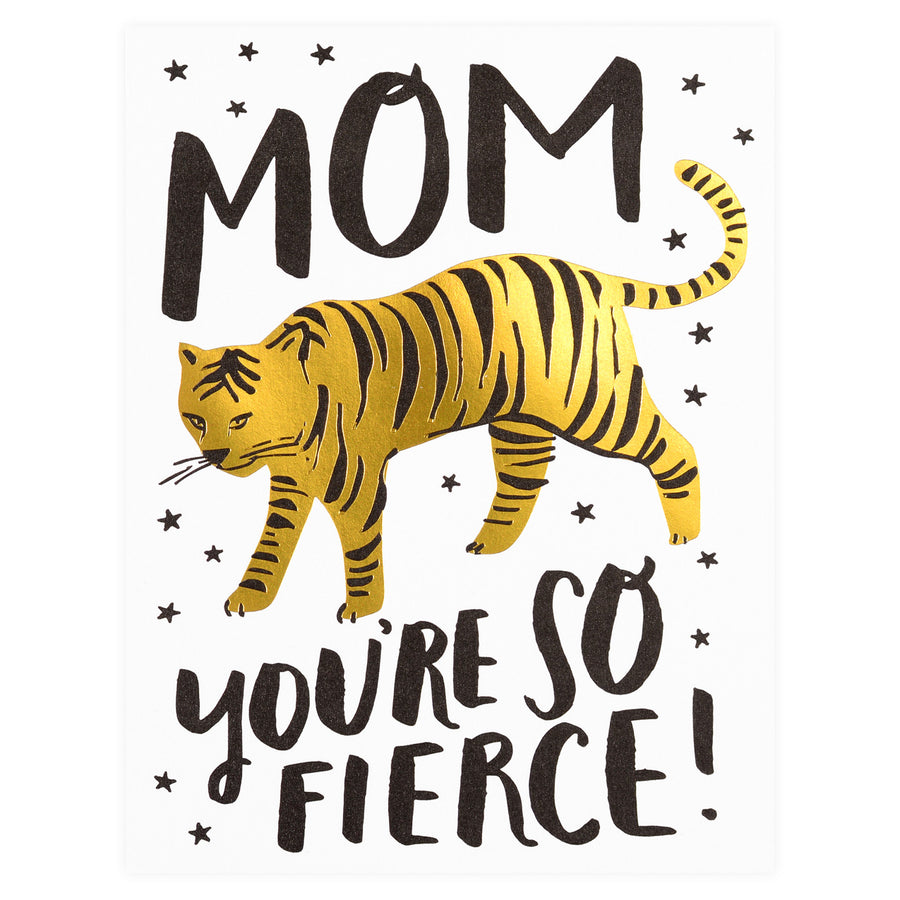 Hello Lucky Tiger Mom Mother's Day Card - GREER Chicago Online Stationery Shop