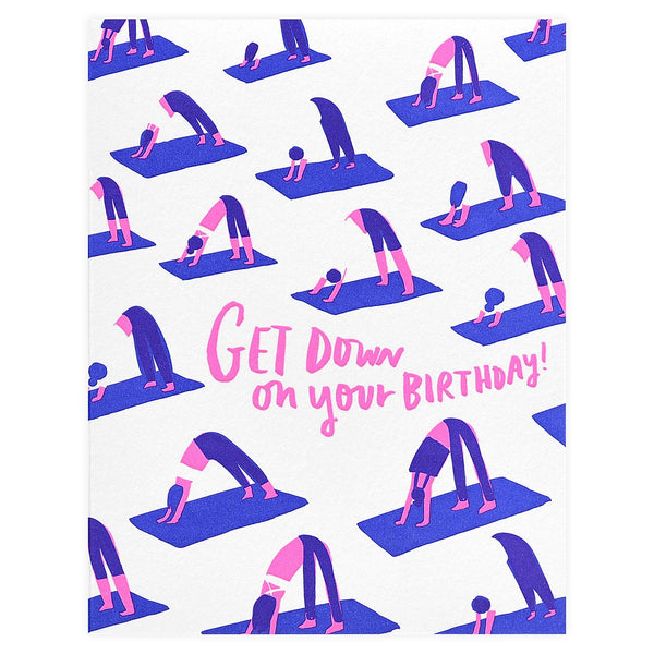 Hello Lucky Yoga Birthday Card - GREER Chicago Online Stationery Shop