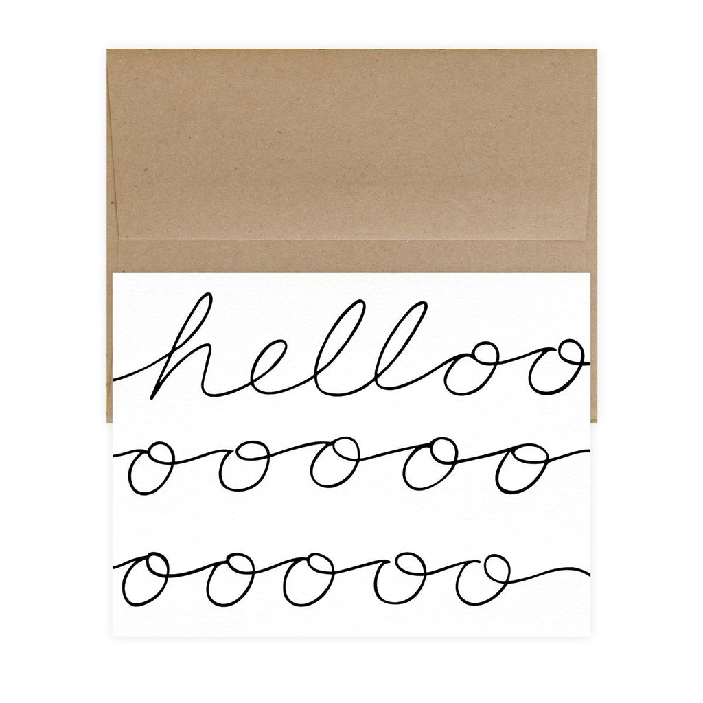 Hellooooo Boxed Folded Note Cards - GREER Chicago Online Stationery