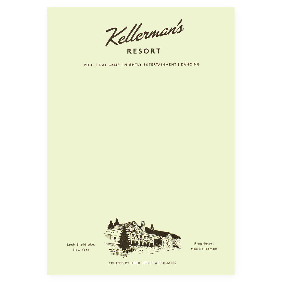 Herb Lester Kellerman's Resort Dirty Dancing Fictional Hotel Notepad Set of 3 or Single