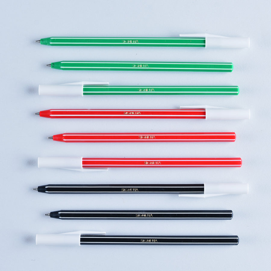 Hightide Classic Stick Striped Ballpoint | three body/ink colors - GREER Chicago Online Stationery Shop
