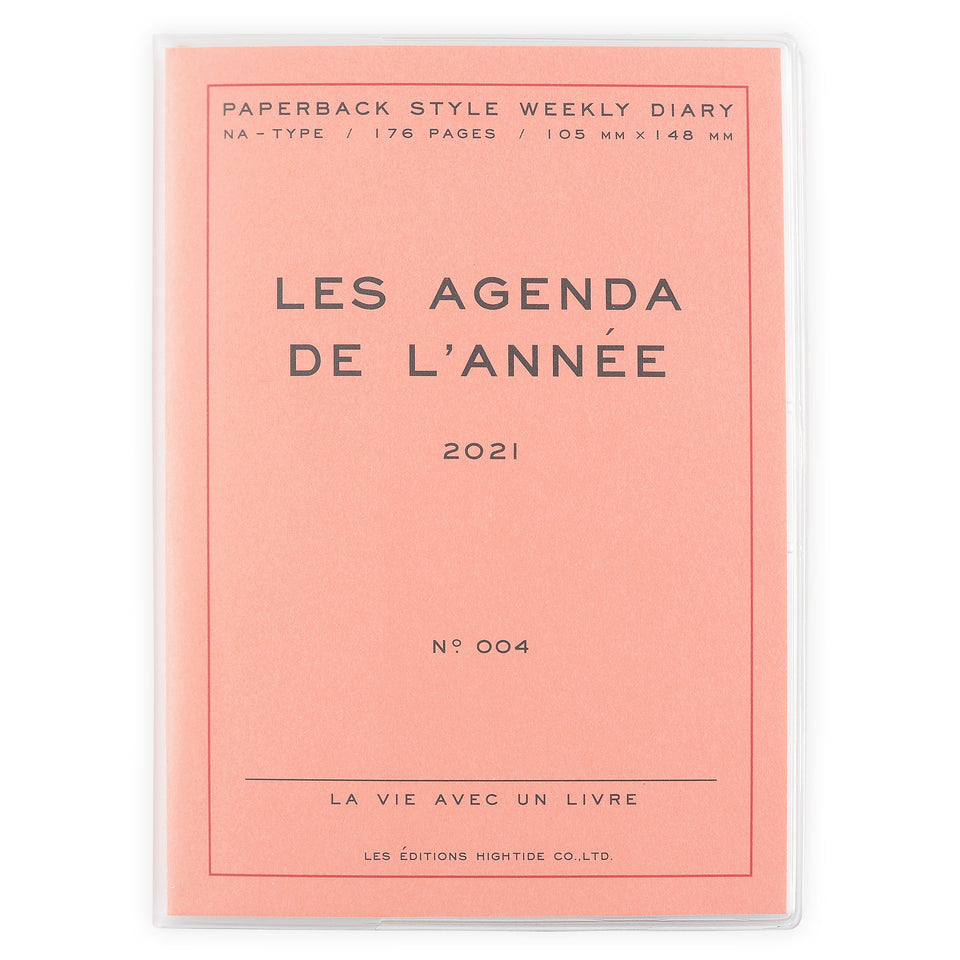 Hightide Hightide 2021 Les Agenda de L'Année' Diary | 4 Colors Pink