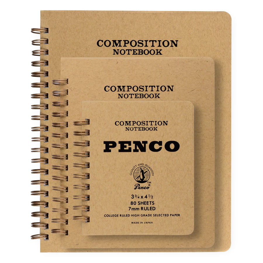 Hightide Penco Coil Composition Notebook | In Three Sizes - GREER Chicago Online Stationery Shop